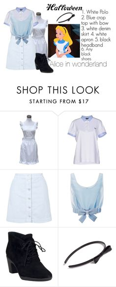 """""""Halloween #2"""" by panenguin ❤ liked on Polyvore featuring Retrò, Fred Perry, Topshop, Honor, Clarks and L. Erickson"""
