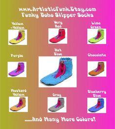 Funky Slippers Boho Slipper Socks Women's Slipper by ArtisticFunk, $15.00