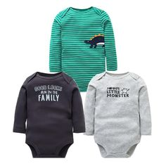 Soft Bird On A Wire Crawler Long Sleeve Cotton Bodysuit for Baby Boys and Girls