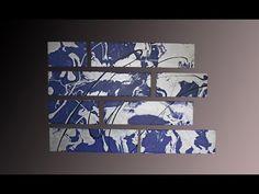 How to paint an abstract triptychon - Hamburg - Gecko Bilder [HD] - YouTube