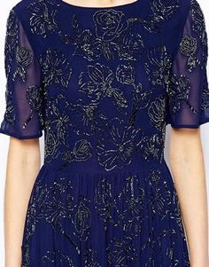 Image 3 of ASOS Premium Maxi Dress With All Over Floral Embellishment