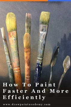 Fast painting Tips - 5 Tips For Painting Faster And More Efficiently. Simple Oil Painting, Acrylic Painting For Beginners, Acrylic Painting Lessons, Acrylic Painting Techniques, Artist Painting, Art Techniques, Diy Painting, Art Paintings, Portrait Paintings