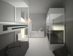 Resultado de imagen para diseño de habitaciones  hostel