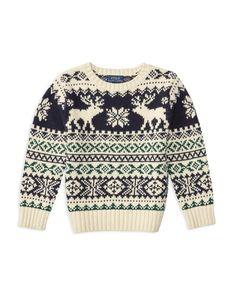 Ralph Lauren Childrenswear Boys' Nordic Reindeer Sweater - Sizes 4-7