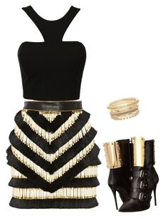 """""""goo girl ♥"""" by just-one-brunette-girl ❤ liked on Polyvore featuring мода, Balmain и Giuseppe Zanotti"""