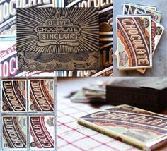 Olive and Sinclair's small-batch chocolate bars are objects of beauty, with beautiful letterpress-inspired wrappers with a decidedly vintage sensibility
