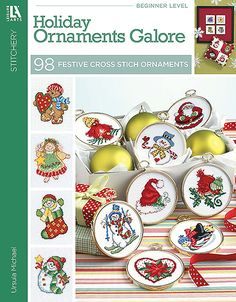 "Holiday Ornaments Galore 98 Cross Stitch Designs - Holiday Ornaments Galore: 98 Cross Stitch Designs (quick, DIY, Christmas, gifts, DMC, cross stitch) Nothing says, ""Merry Christmas – I like you enough to make you something festive and fabulous!"" quite like a cross stitch ornament from this Holiday Ornaments Galore book. And with ninety-eight cross stitch patterns to choose from, designer Ursula Michael has made it a snap for you to perform a Christmas miracle: finding and creating the perfect"