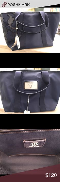 Tory Burch beach bag. Beautiful large Tory Burch beach bag in cobalt blue. New with tags. Tory Burch Bags Totes
