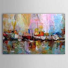 Hand Painted Oil Painting Abstract Landscape 1303-AB0413 – USD $ 69.99