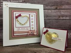 All About Love Class - tutorial and online kit. #stampinup #creatinwithkirsteen #allaboutlove #loveblossoms #bloominlove