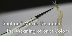 Snot and Mucus Decoded: The Meaning of Snot Colors   Gross but Fascinating
