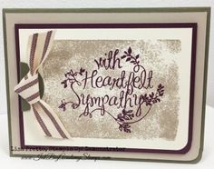 I have to admit, making Sympathy Cards is not my favorite thing to do. But as someone who has been on the receiving end of these cards, I know they are probably even more important than a birthday card. I went with the Pals Color Challenge this week as my inspiration Details: Stampin'Up!'s Heartfelt Sympathy stamp …