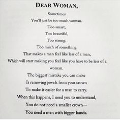 Dear woman. Via cara delvigne instagram