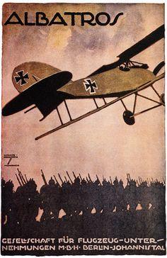 German aviation poster
