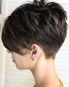 Pixie Haircut For Thick Hair, Short Pixie Haircuts, Short Hairstyles For Women, Long Pixie Hair, Short Hair Cuts For Women Pixie, Short Asymmetrical Hairstyles, Messy Pixie Cuts, Undercut Pixie Haircut, Edgy Pixie