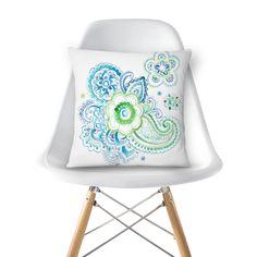 Almofada Flor azul do Studio Dutearts por R$ 60,00