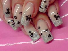 So cute!! | See more at http://www.nailsss.com/... | See more nail designs at http://www.nailsss.com/acrylic-nails-ideas/2/