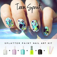 You can match these to your super sweet Zubaz. | 13 Bitchin' '90s-Inspired Nail Art Designs
