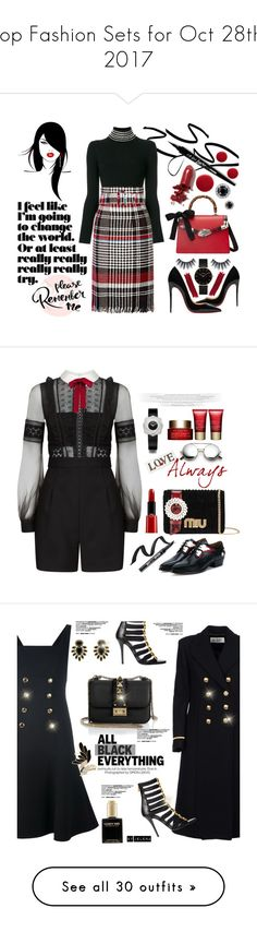 """Top Fashion Sets for Oct 28th, 2017"" by polyvore ❤ liked on Polyvore featuring Alexander Wang, Oscar de la Renta, Christian Louboutin, Gucci, CLUSE, LAQA & Co., Oribe, By Terry, self-portrait and Valentino"