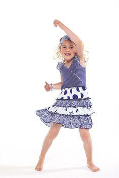 Lets do this MIM-PI dance #mimpi #cute #kids #fashion #girls #blue #polkadot #horses #stripes #dance
