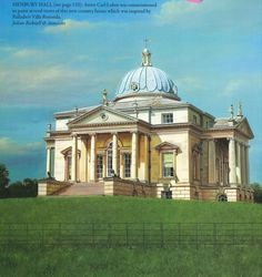 Henbury Hall by Julian Bicknell, inspired by Palladio's Villa Rotunda.