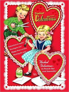 Set up a table so people can write valentines to each other at the wedding! Vintage Valentines (Press Out Book): Golden Books: 9780375875144: Amazon.com: Books