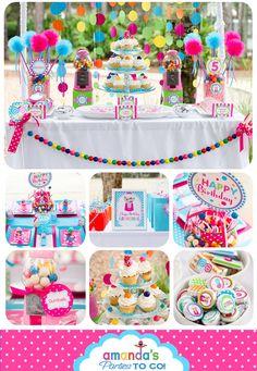 Caramelo Partido dulce del Shoppe Imprimibles Set - cumpleaños caramelo - Gumball - Lollipop Por las Partes De Amanda IR