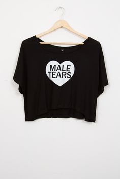 Male Tears Semi-Cropped Tee. GHOSTLY CHIC brand