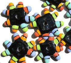 New beads! Happy JacksHandmade Lampwork Beads by beadygirlbeads on Etsy, $48.00