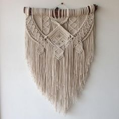Ancestral weave, Macrame wall hanging by AncestralStore on Etsy https://www.etsy.com/listing/292535651/ancestral-weave-macrame-wall-hanging