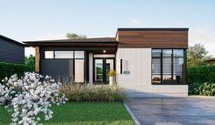 Exterior bungalow modern mid century 55 ideas for 2019 Modern Exterior, Exterior Design, House Columns, French Country Exterior, Country Patio, Mid Century Exterior, House Sketch, Exterior House Colors, Small House Design