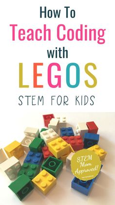 Lego Coding for Kids! Teach your kids all about coding with these fun coding activities without computers. Preschoolers and kindergartners (even toddl. Stem For Kids, Science For Kids, Stem For Preschoolers, Lego For Kids, Life Science, Kids Learning Activities, Stem Activities, Stem Preschool, Toddler Learning