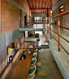 Architecture House Brick Indian Brick House with an Architectural Design Influenced by a Mango Trees Plantation House Architecture Styles, Studios Architecture, Architecture Design, Chinese Architecture, Futuristic Architecture, Classical Architecture, Ancient Architecture, Sustainable Architecture, Contemporary Architecture