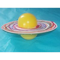 Saturn art, made with paper plate and balloon