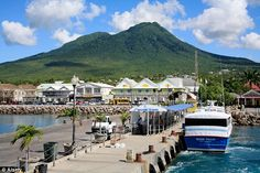 Stock Photo - Harbour and Town of Charlestown at Nevis in the Caribbean Trevor Eve, Windward Islands, West Indian, Archipelago, Belize, St Kitts And Nevis, North America, Caribbean, Sunrise