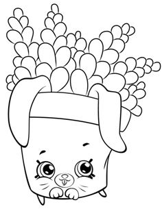 Cute Fern to Color shopkins season 5 coloring pages printable and coloring book to print for free. Find more coloring pages online for kids and adults of Cute Fern to Color shopkins season 5 coloring pages to print. Shopkins Colouring Book, Cupcake Coloring Pages, Easy Coloring Pages, Cartoon Coloring Pages, Coloring Pages To Print, Free Printable Coloring Pages, Coloring Pages For Kids, Coloring Sheets, Adult Coloring