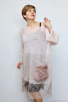 Hand Knitting, Knitting Patterns, Fashion Outfits, Womens Fashion, Knitting Projects, Knit Dress, Knit Crochet, Sweaters For Women, Tunic Tops