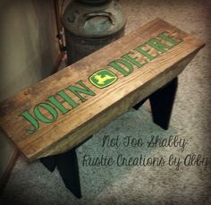 John Deere Farmhouse Bench...ok this is soooo awesome!