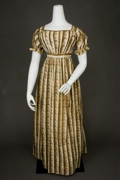 1815 ___ Day Dress ___ Cornucopia printed; fabric not given ___ from The Tasha Tudor Collection at 2012 Whitaker Auction