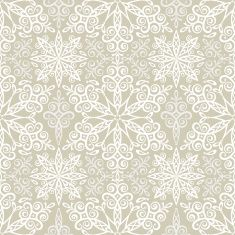 Snowflake Lace Seamless Pattern vector art illustration