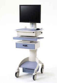Durable Hospital Laptop Cart