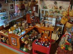 Miniature country store and deli by It's a miniature life...is playing with clay, via Flickr
