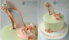 vintage high heel shoe cake by The Cute Little Cupcake Company Shoe Box Cake, Bag Cake, Shoe Cakes, High Heel Kuchen, High Heel Cakes, Bolo Fack, Pink Cake Box, Gift Box Cakes, Vintage High Heels