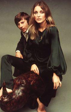Sharon Tate (that blouse!) and Roman Polanski