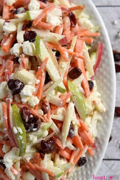 Carrot Apple Slaw. #HealthyEating #CleanEating #ShermanFinancialGroup