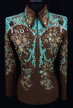 Chocolate and Mint Western Showmanship Suit ~ Just Peachy