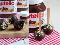Miss Blueberrymuffin's kitchen: Nutella Cake Pops nach Roy Fares