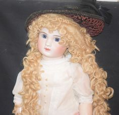 Antique Doll Steiner Bisque French Figure A Closed Mouth Dressed Gorgeous