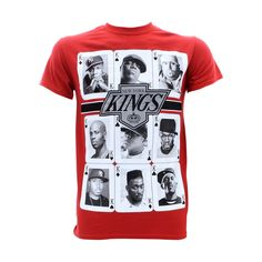 3Forty - Men's Kings Rappers Ny T-Shirts - Red