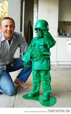 cool army man costume kid